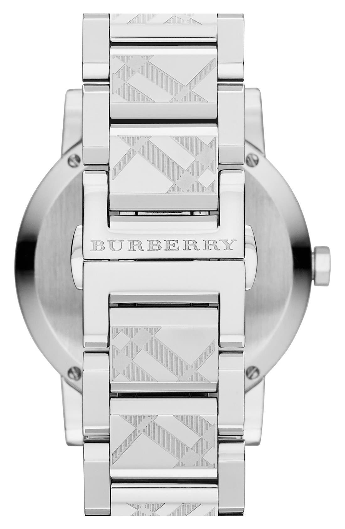 Alternate Image 5  - Burberry Check Stamped Bracelet Watch, 38mm