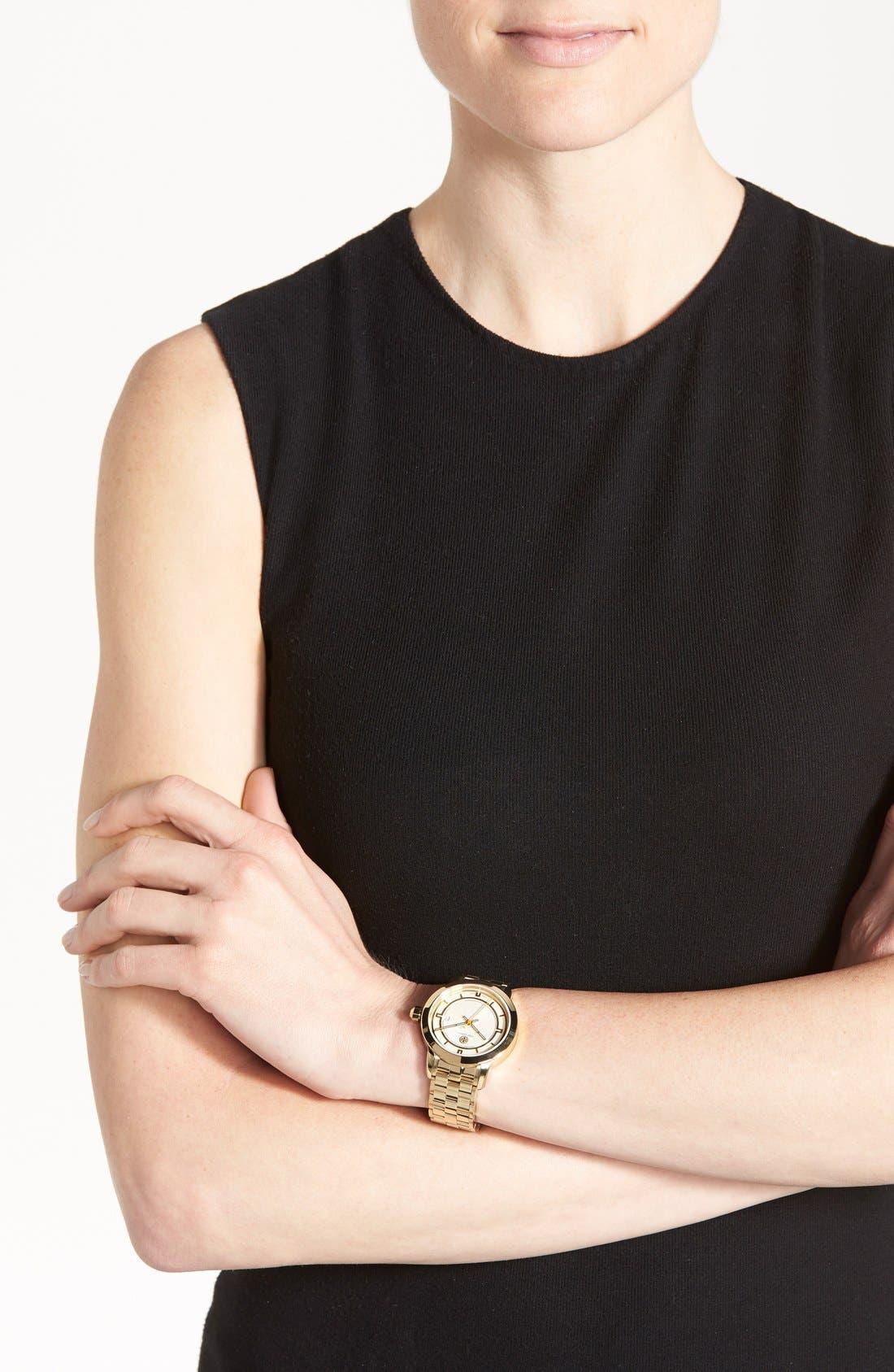 Alternate Image 5  - Tory Burch 'Tory' Large Round Bracelet Watch, 37mm