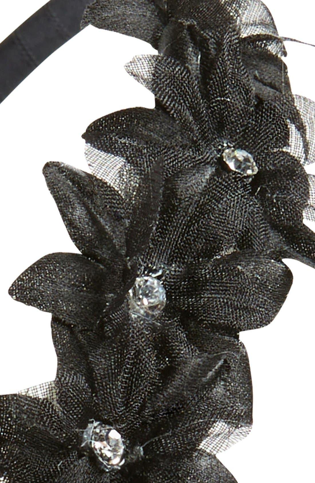 Alternate Image 2  - Tasha Crystal Embellished Floral Headband