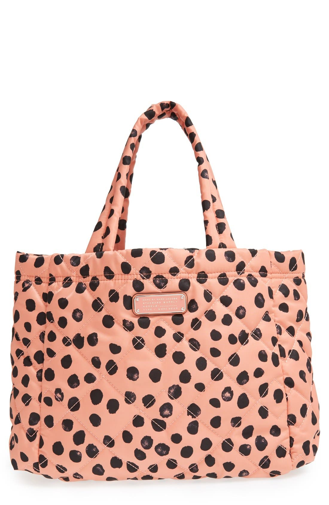 Main Image - MARC BY MARC JACOBS 'Small Crosby' Quilted Nylon Tote