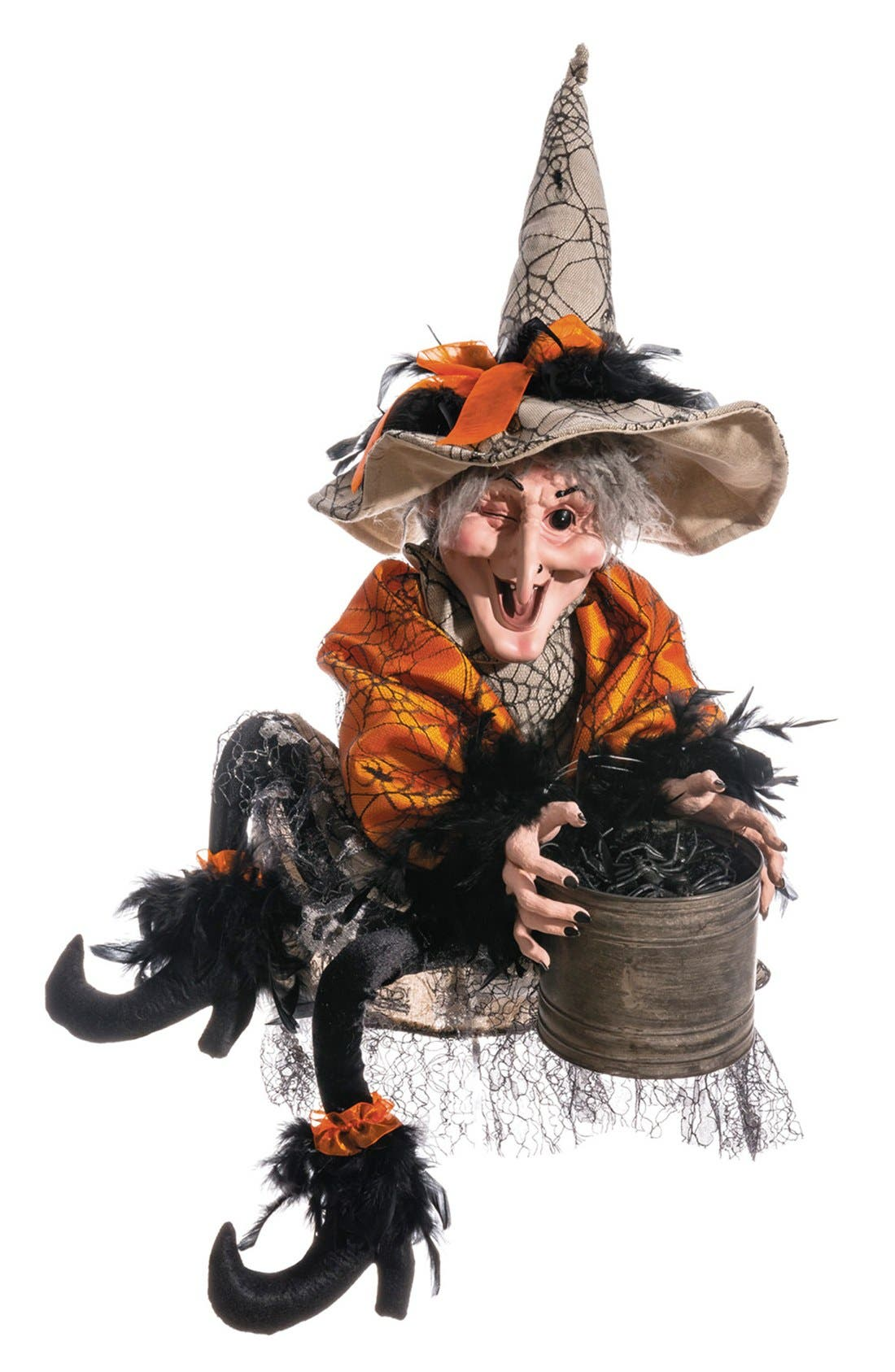 Main Image - ALLSTATE 'Witch With Bucket Of Spiders' Decoration