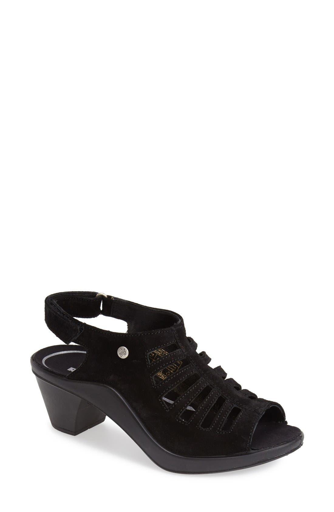 Romika® 'Mokasetta 287' Cutout Suede Sandal (Women)