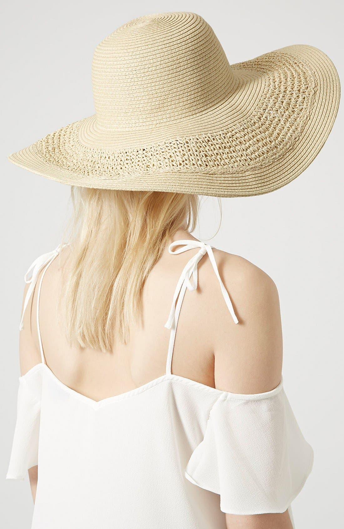 Alternate Image 2  - Topshop Crochet Floppy Hat