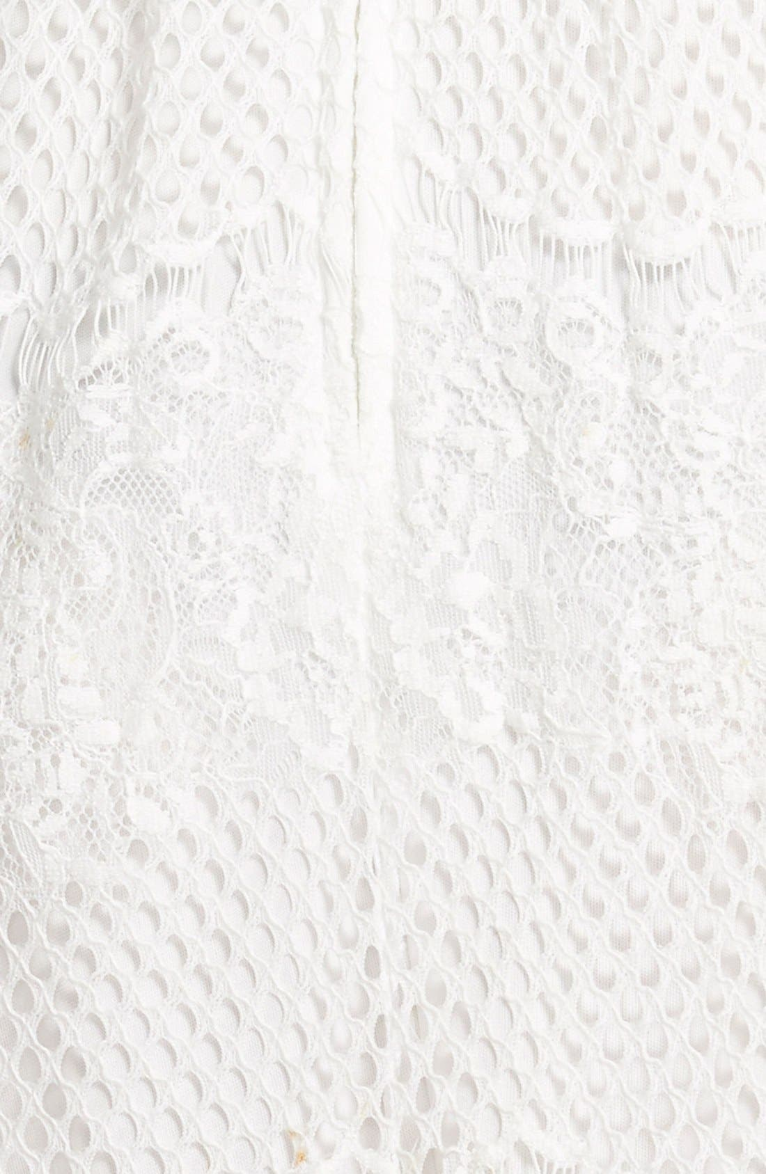 Alternate Image 3  - Trixxi Lace High-Neck Skater Dress