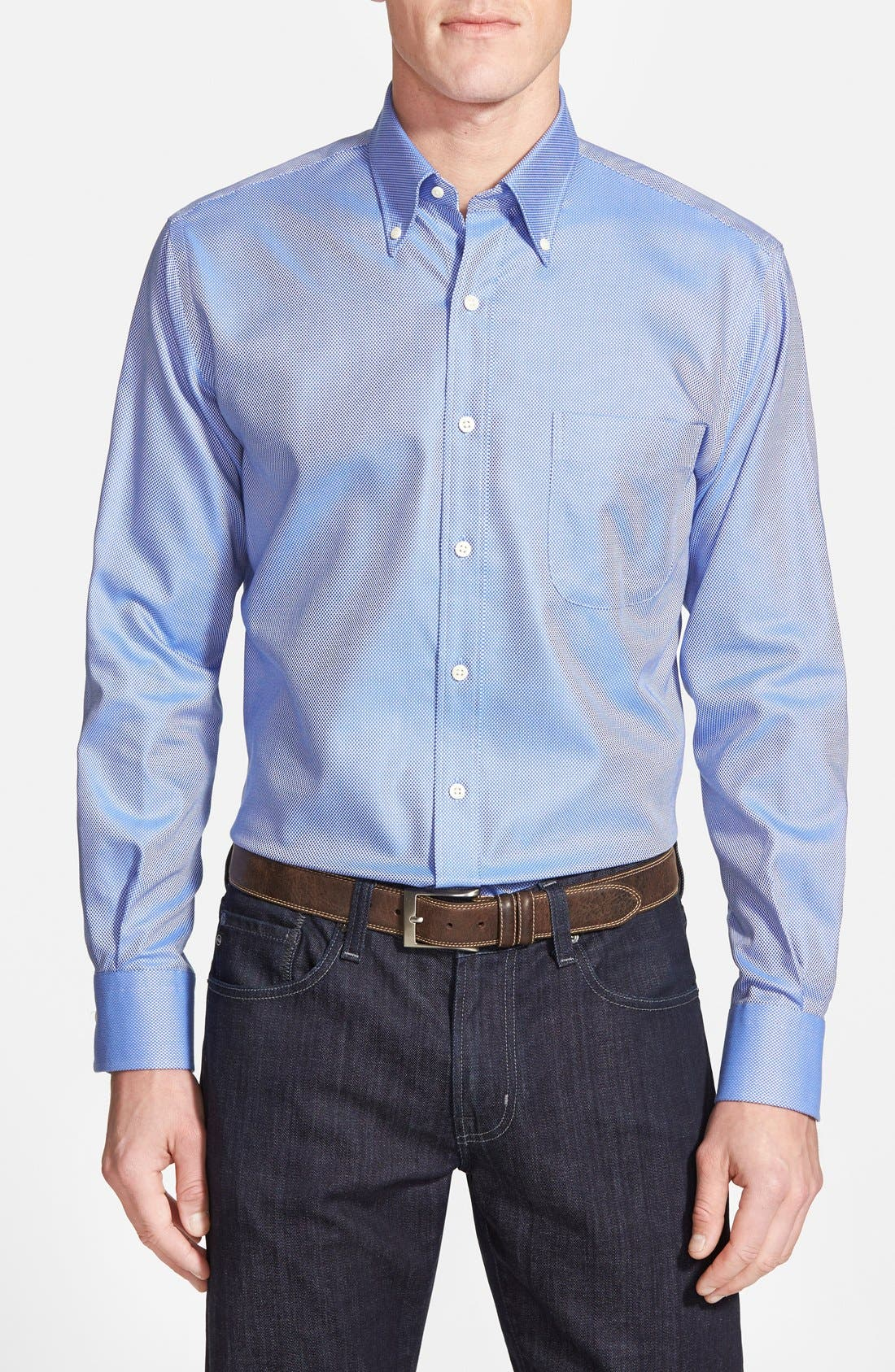 Main Image - Peter Millar 'Nanoluxe' Regular Fit Wrinkle Free Sport Shirt