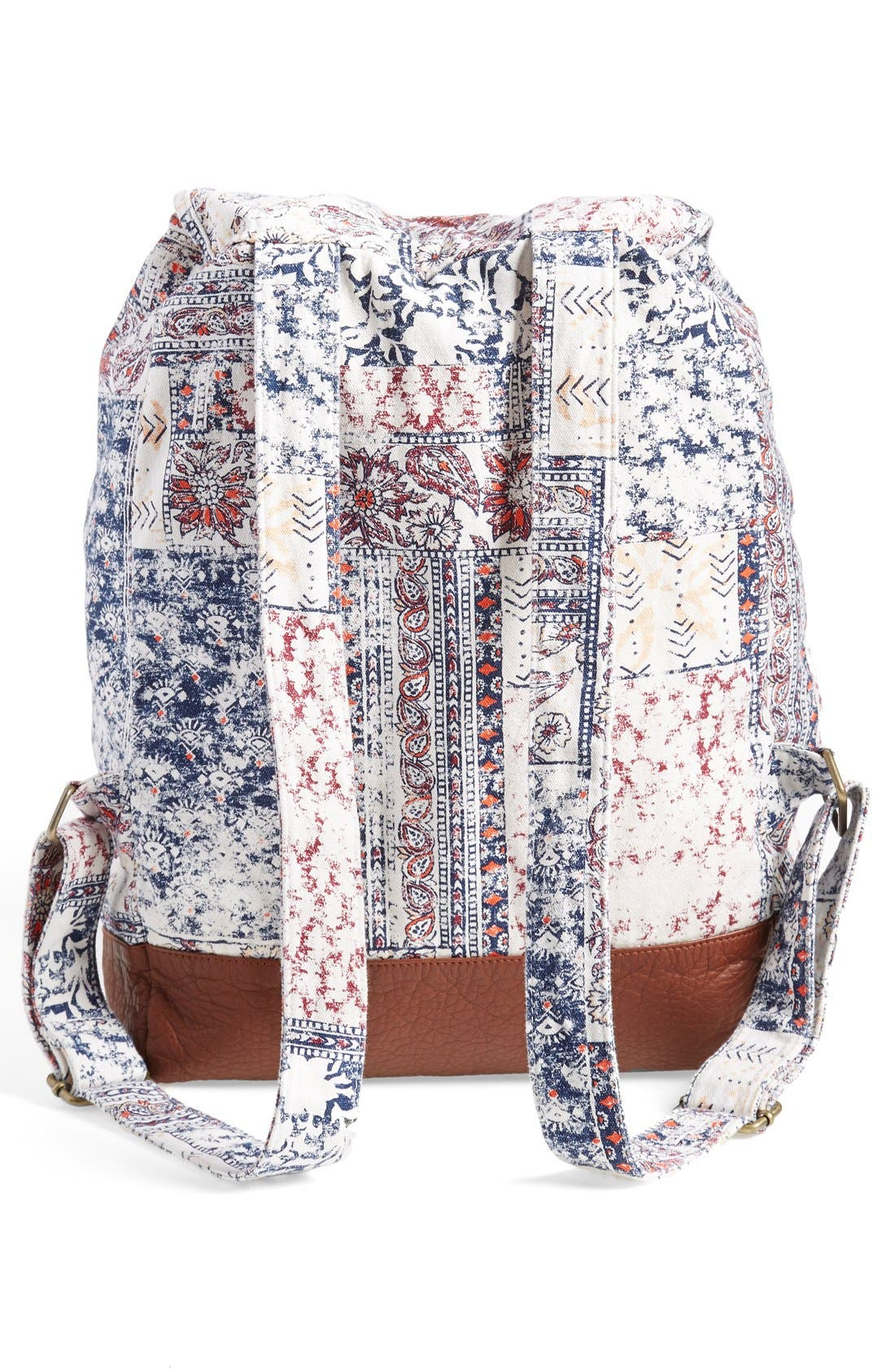 Alternate Image 3  - Billabong 'Midnight Moonz' Slouchy Canvas Backpack