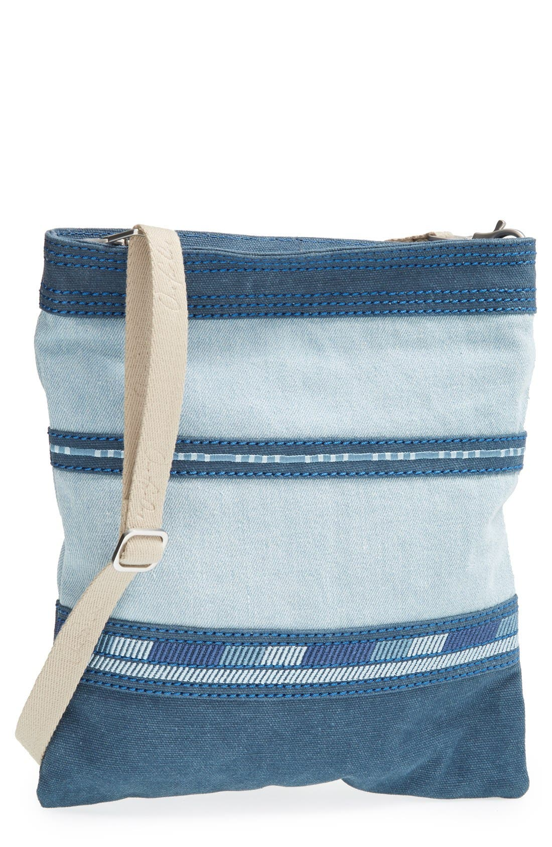 Alternate Image 1 Selected - TOMS Stripe Denim Crossbody Bag