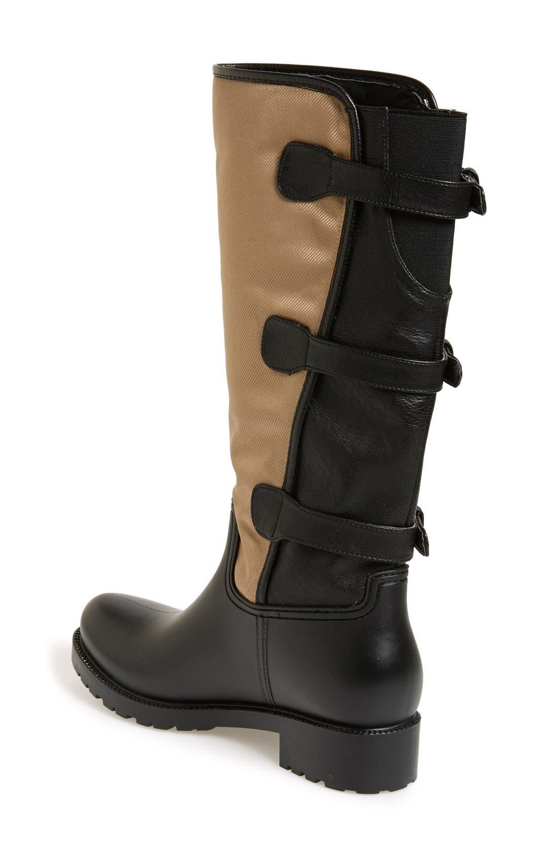 Alternate Image 2  - däv Tall Buckle Rain Boot (Women)