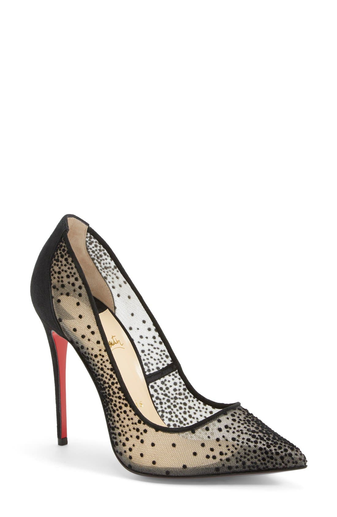 Alternate Image 1 Selected - Christian Louboutin 'Follies' Mesh Pointy Toe Pump