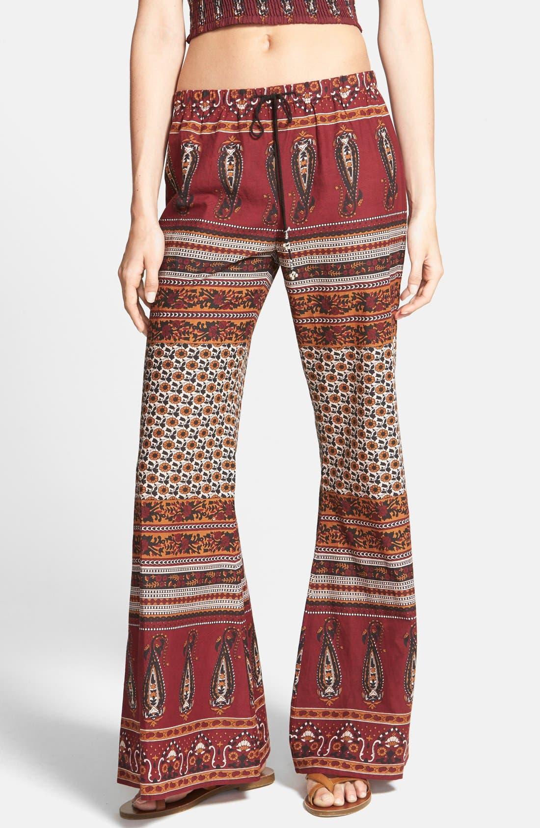 Main Image - Band of Gypsies Gauzy Wide Leg Pants