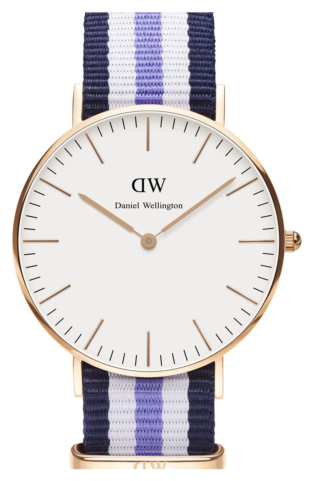 Alternate Image 1 Selected - Daniel Wellington 'Classic Trinity' Round NATO Strap Watch, 36mm