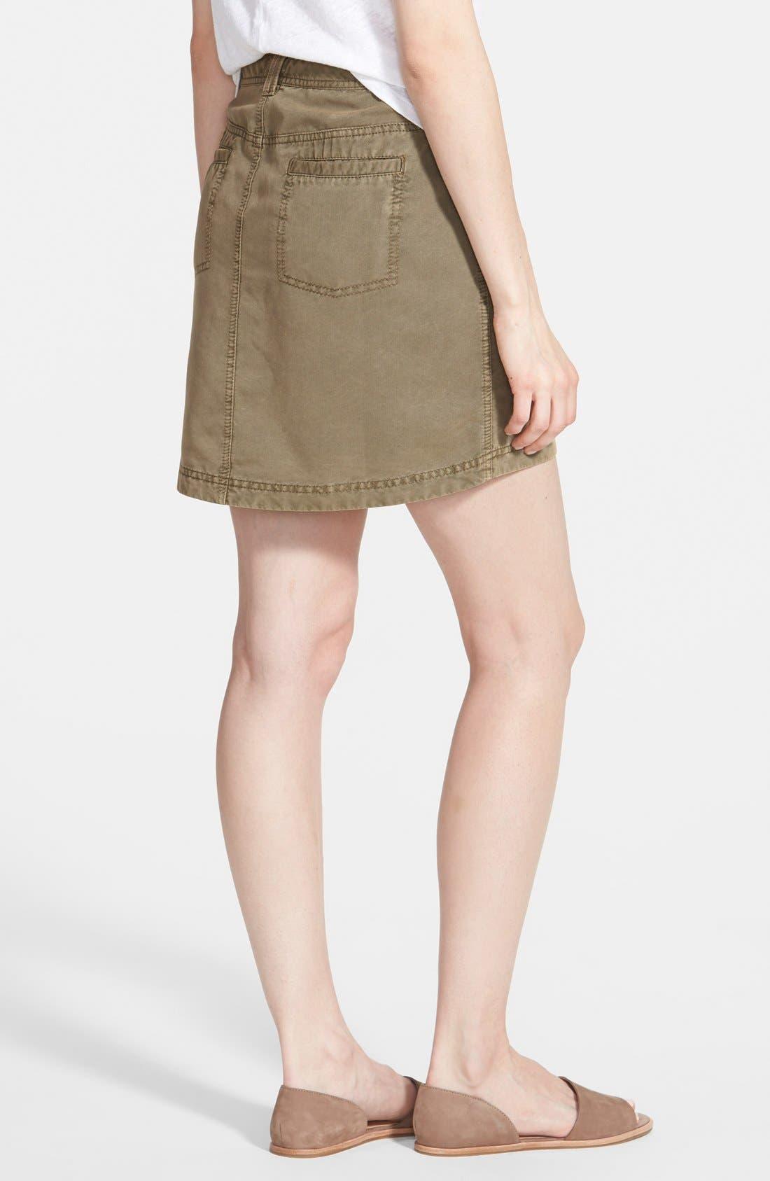 Alternate Image 2  - Hinge Vintage Military Skirt