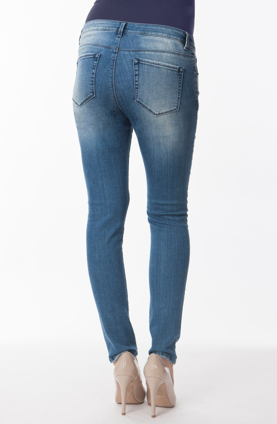 Alternate Image 2  - Seraphine 'Gerie' Ripped Maternity Skinny Jeans