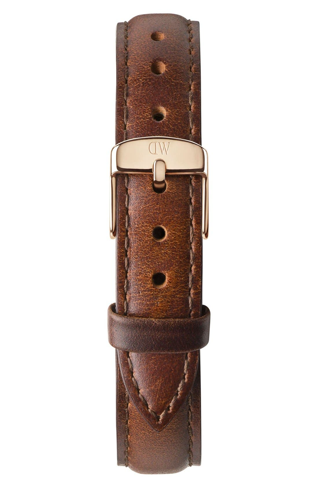 Alternate Image 2  - Daniel Wellington 'Classy St. Mawes' Crystal Index Leather Strap Watch, 34mm