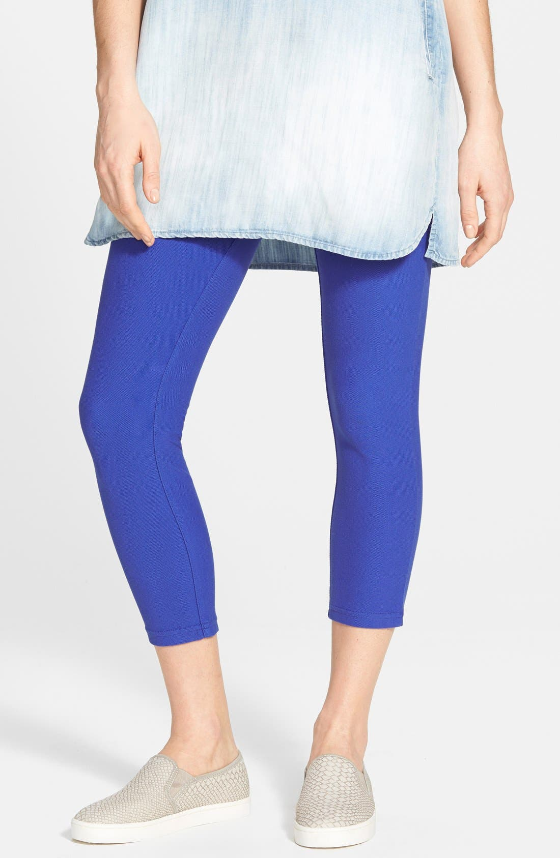Alternate Image 1 Selected - Hue Piqué Skimmer Leggings