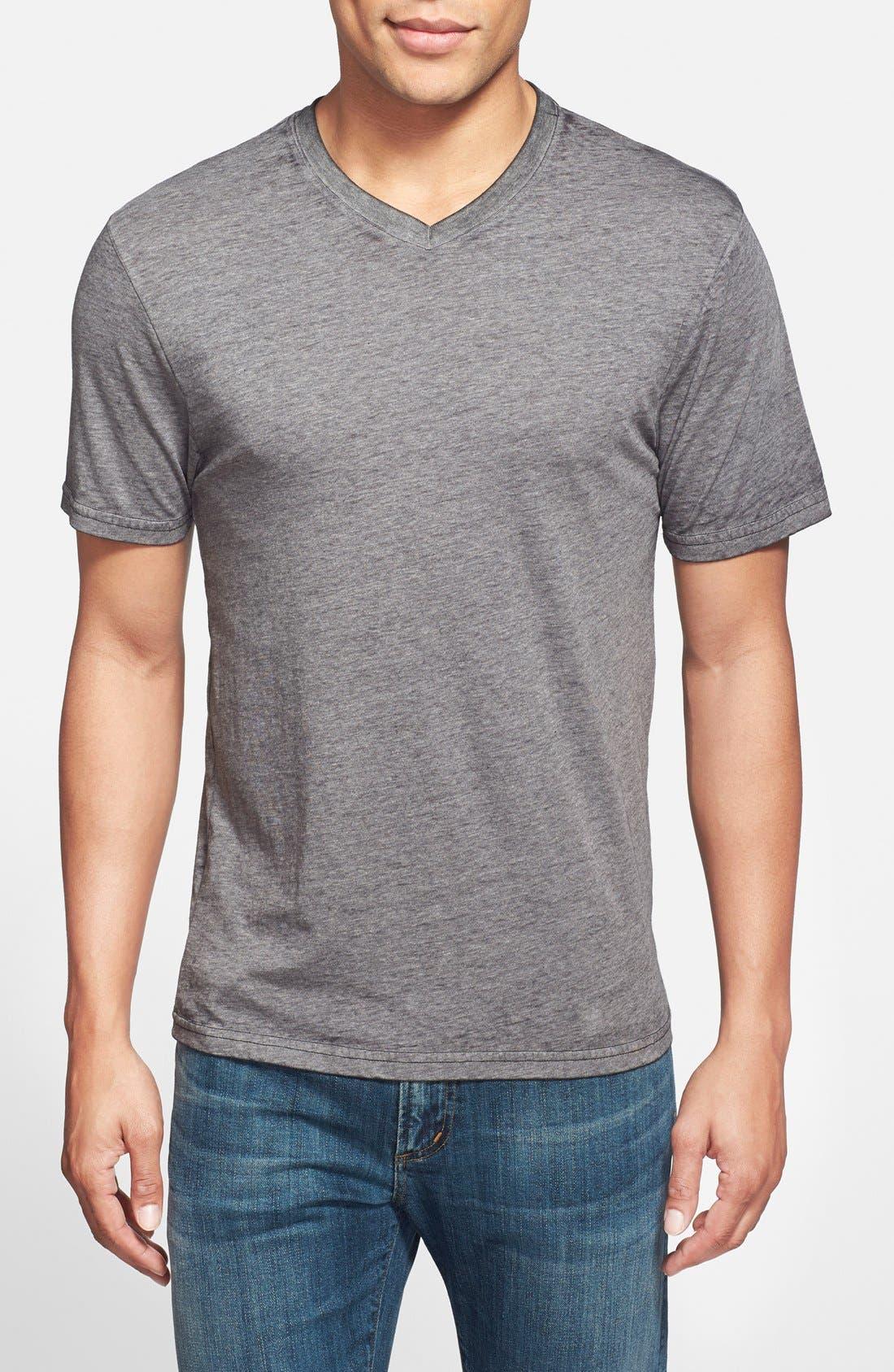Alternate Image 1 Selected - Red Jacket Trim Fit V-Neck T-Shirt