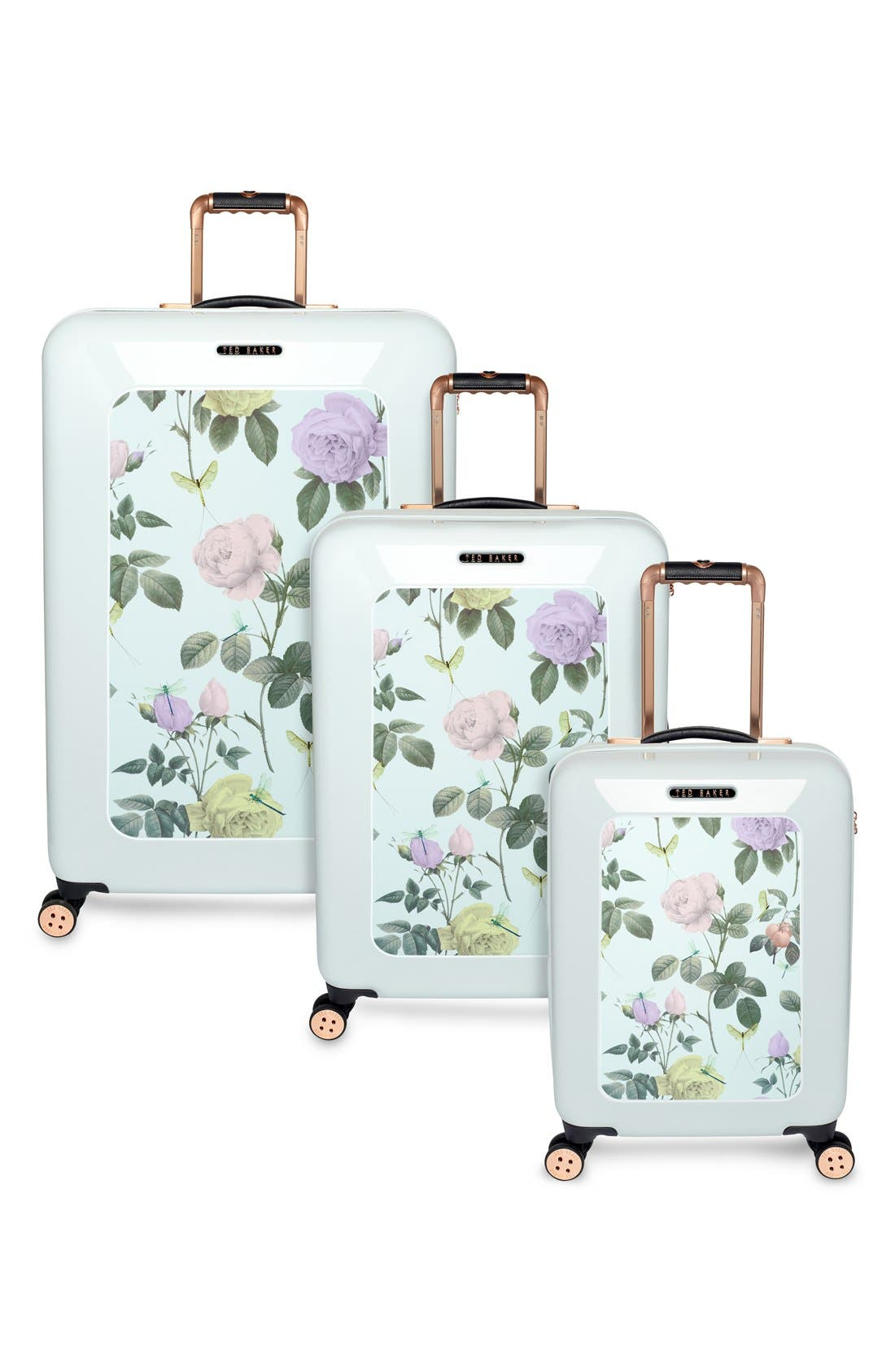 Alternate Image 5  - Ted Baker London 'Small Rose' Hard Shell Suitcase (22 Inch)