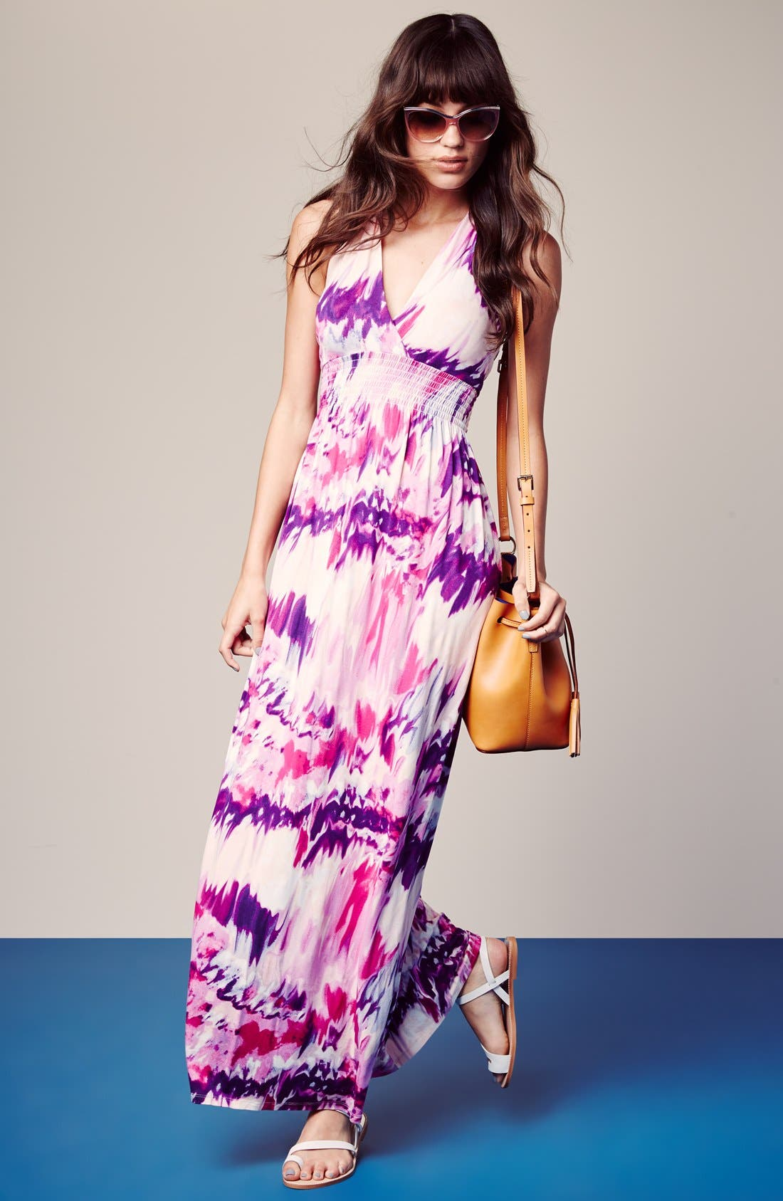 Alternate Image 4  - Felicity & Coco 'Nina' Print Jersey Maxi Dress (Regular & Petite) (Nordstrom Exclusive)
