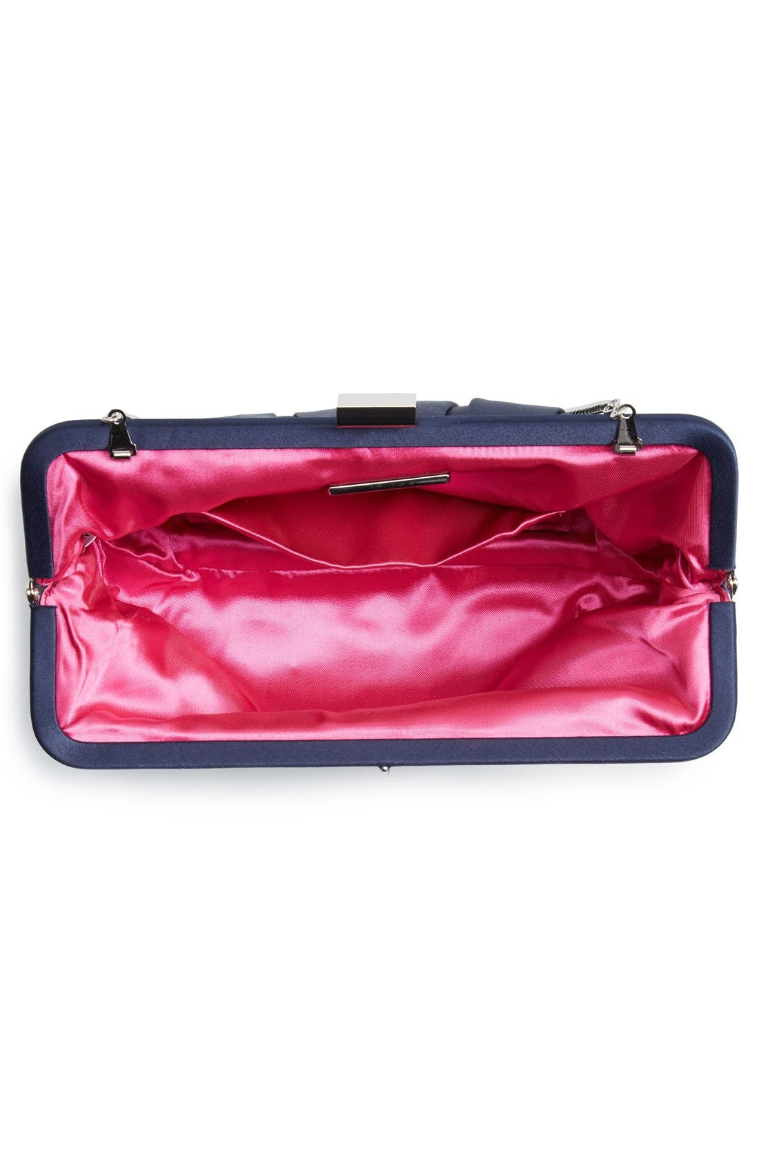 Alternate Image 4  - Nina 'Logan' Satin Clutch