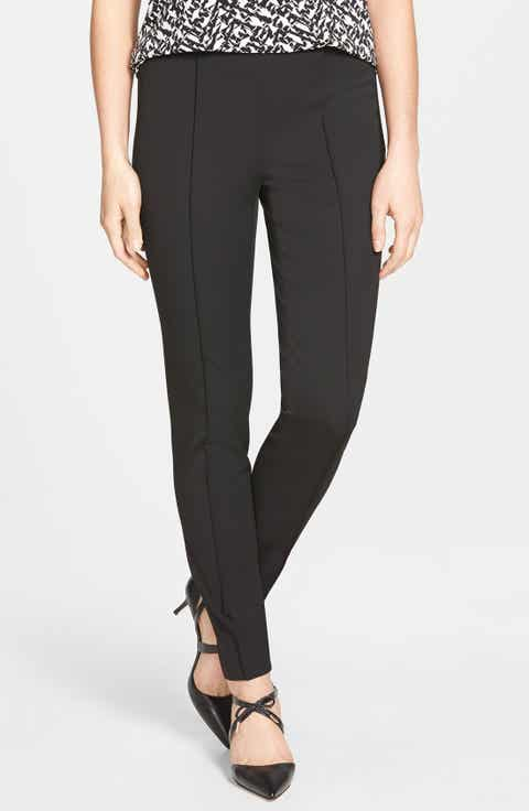 Vince Camuto Side Zip Stretch Twill Pants (Regular   Petite) (Nordstrom Exclusive)