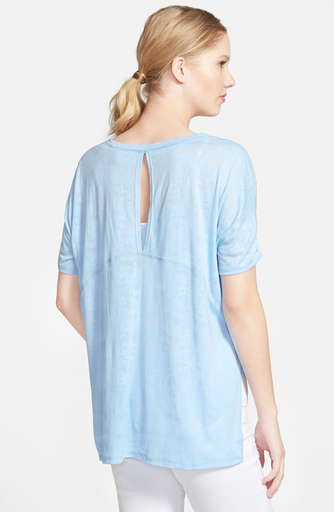 Alternate Image 2  - Two by Vince Camuto Boxy High/Low Burnout Tee