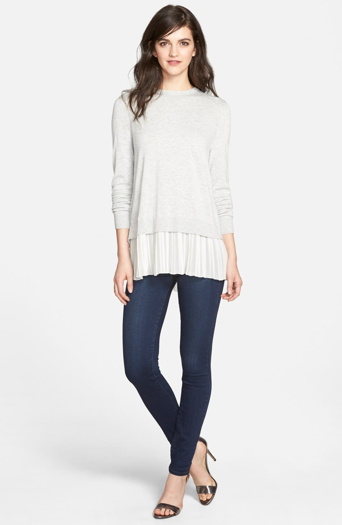 Alternate Image 2  - Paige Denim 'Hoxton' High Rise Ultra Skinny Jeans (Takara) (Nordstrom Exclusive)