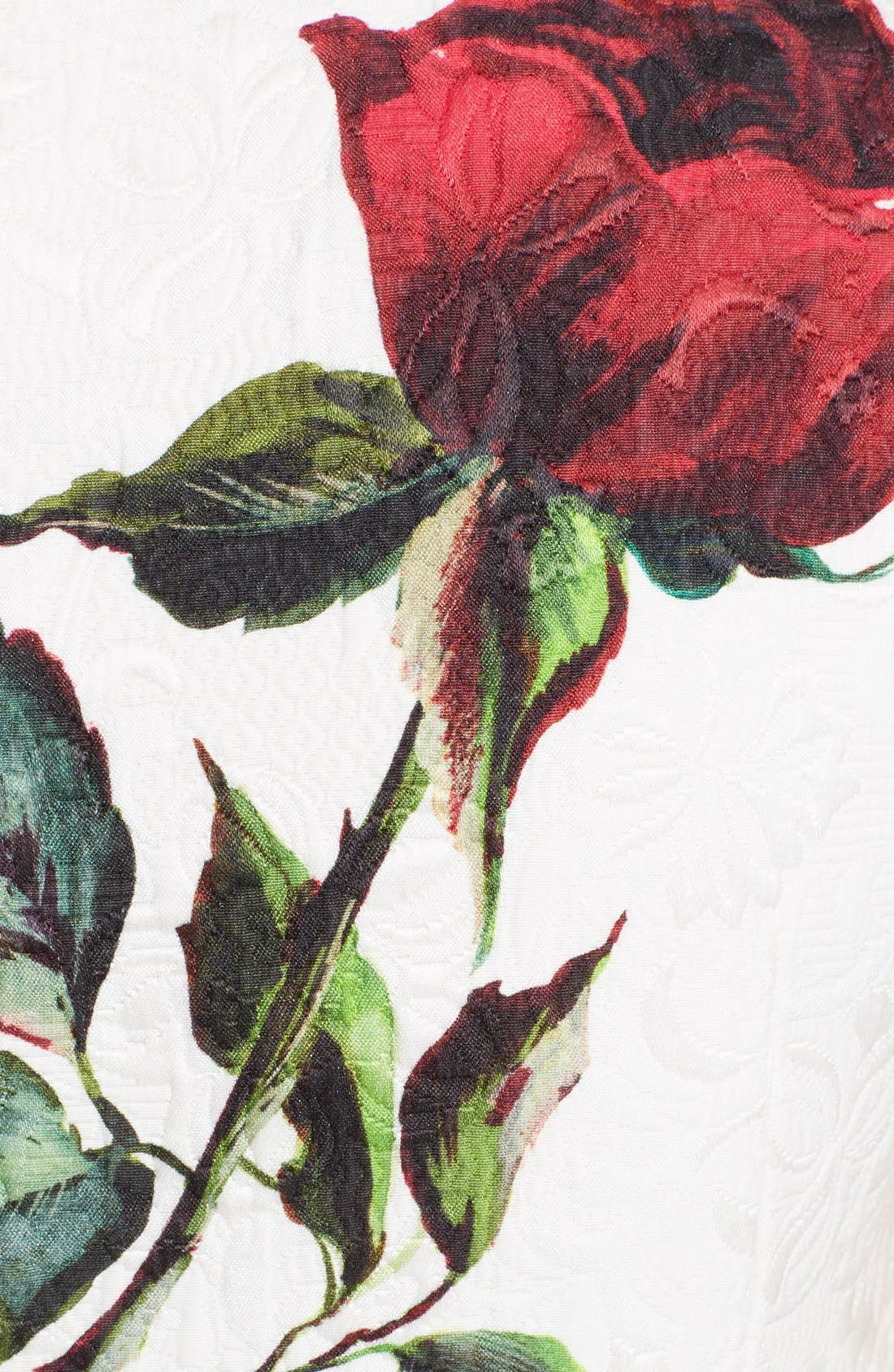 Alternate Image 3  - Dolce&Gabbana Rose Print Brocade Pencil Dress