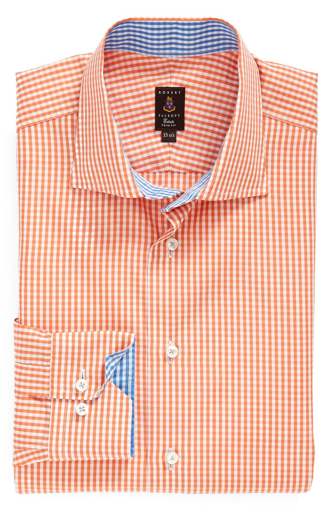 Alternate Image 1 Selected - Robert Talbott Trim Fit Check Dress Shirt