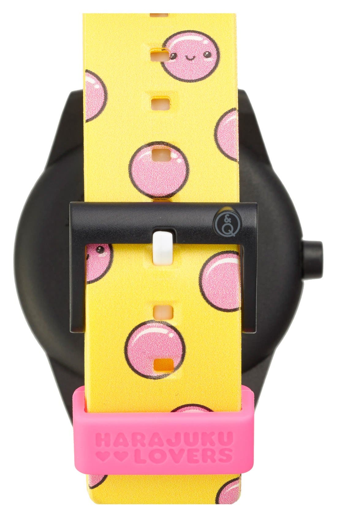 Alternate Image 2  - Harajuku Lovers Resin Solar Watch, 40mm (Limited Edition)