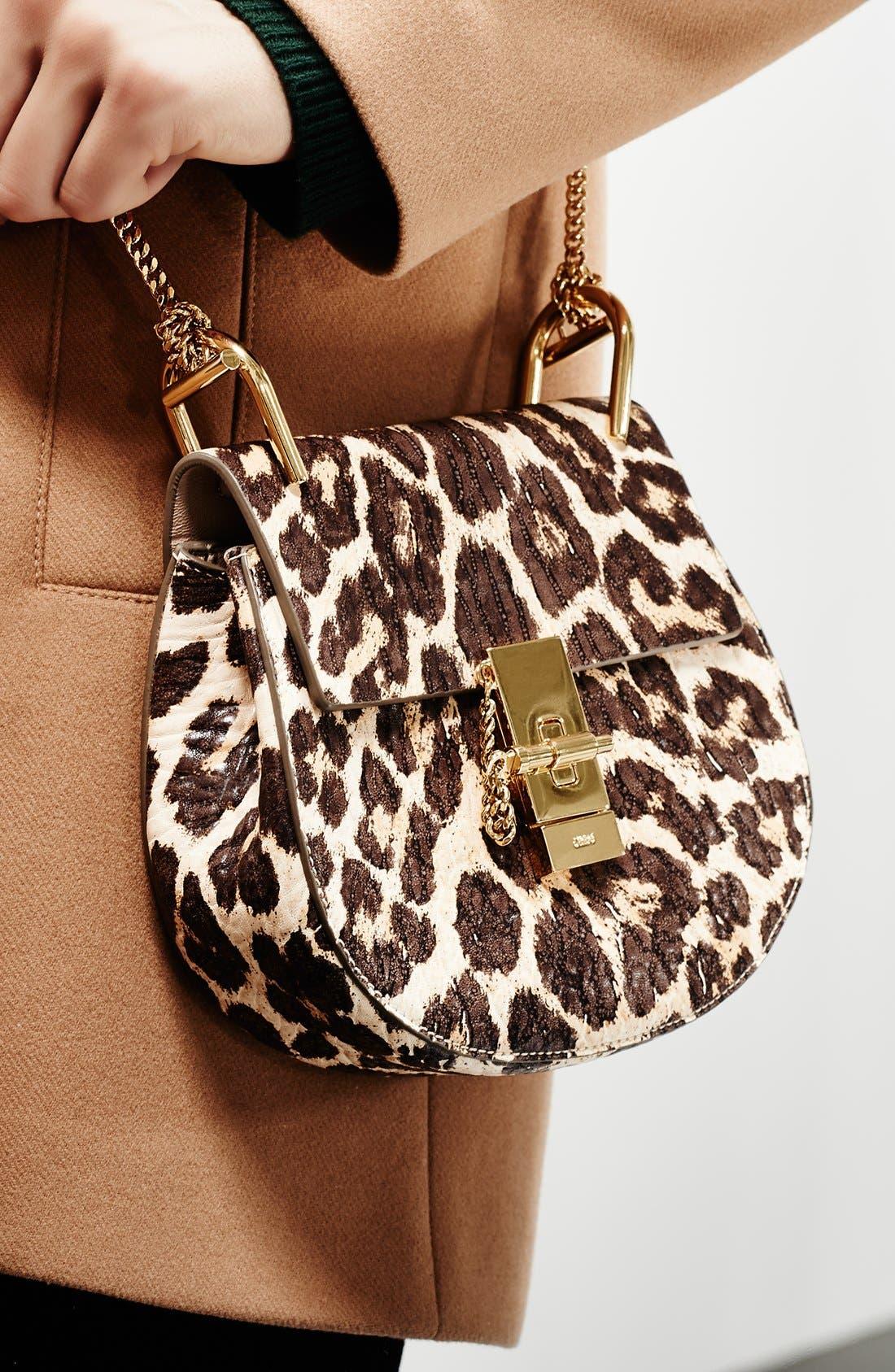Alternate Image 7  - Chloé 'Drew' Leopard Print Leather Shoulder Bag