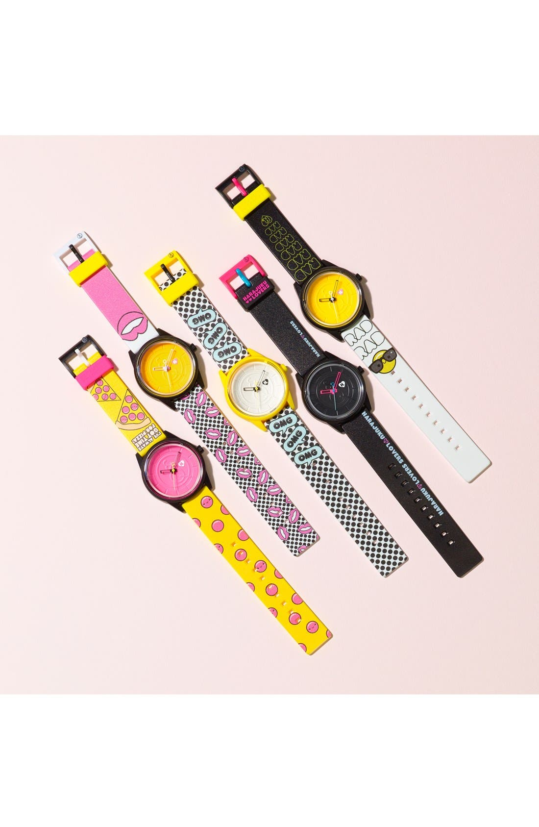 Alternate Image 4  - Harajuku Lovers Resin Solar Watch, 40mm (Limited Edition)