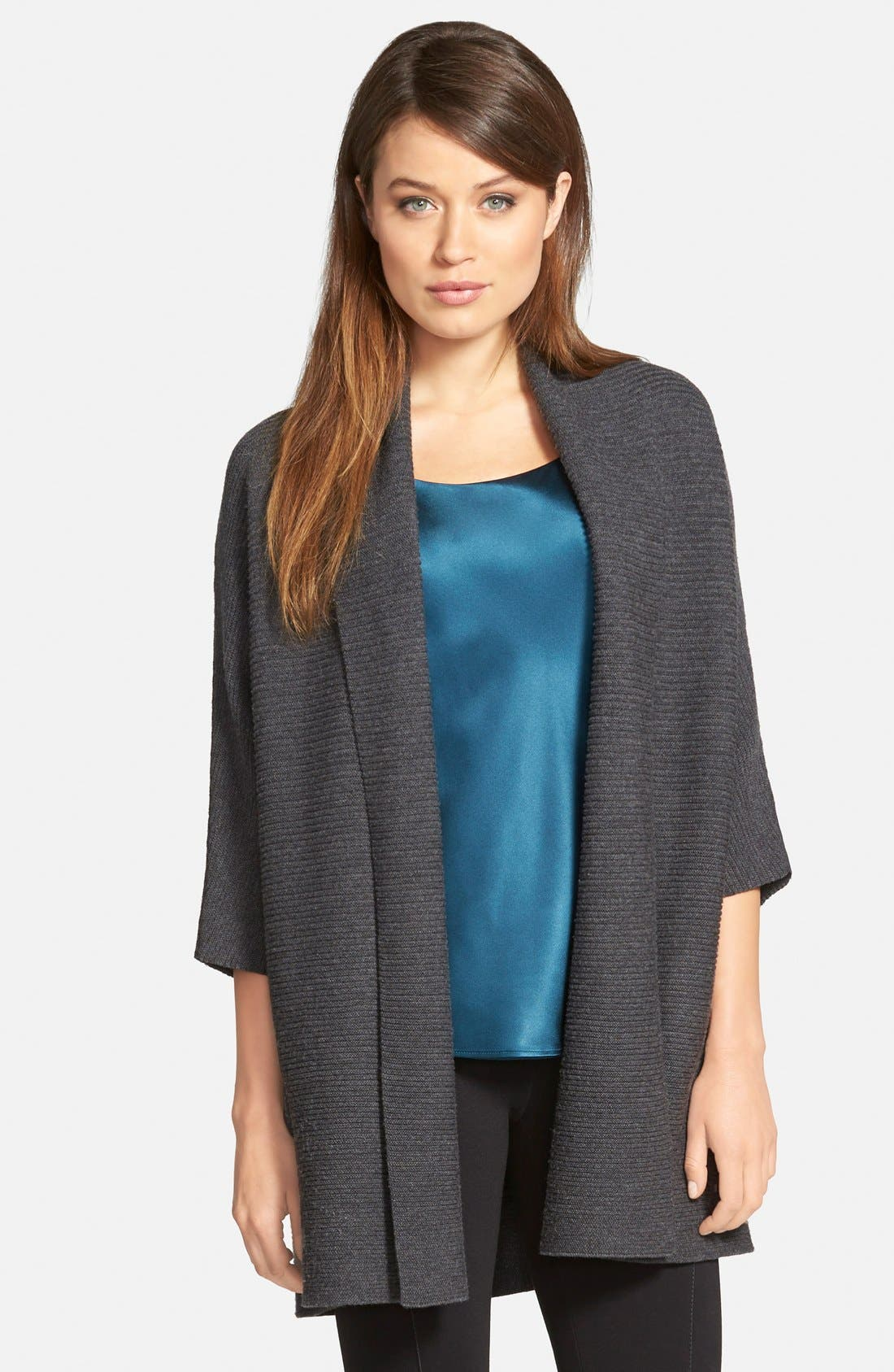 Main Image - Lafayette 148 New York Merino Shawl Collar Cardigan