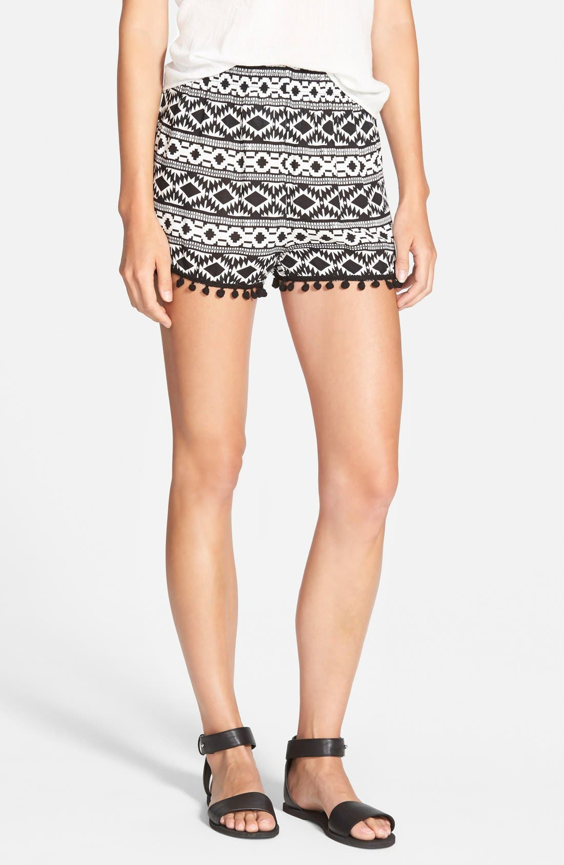 Alternate Image 1 Selected - Vigoss 'Pom Pom' Geo Print Shorts