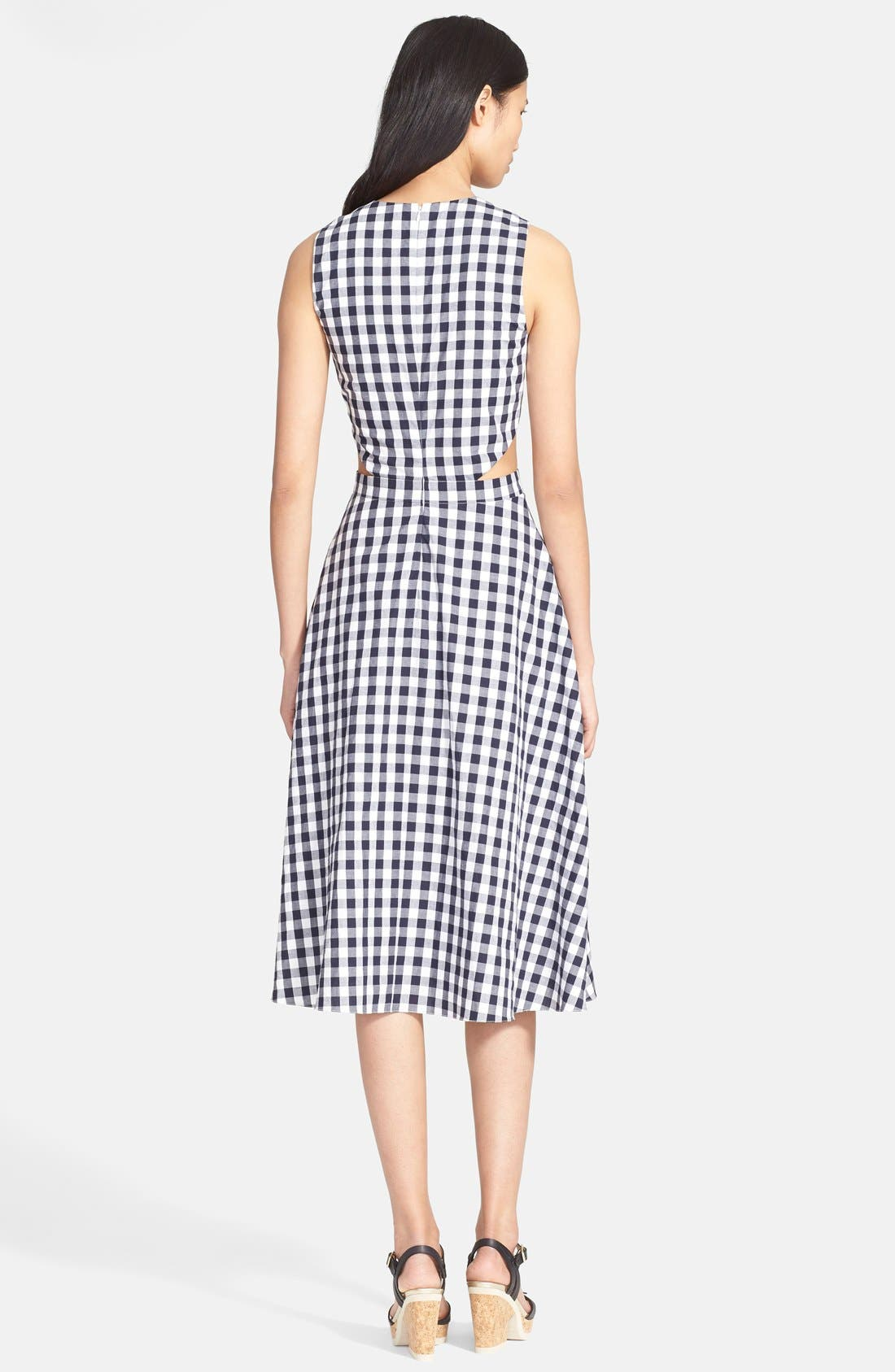 Alternate Image 2  - Tanya Taylor 'Monica' Gingham Fit & Flare Dress