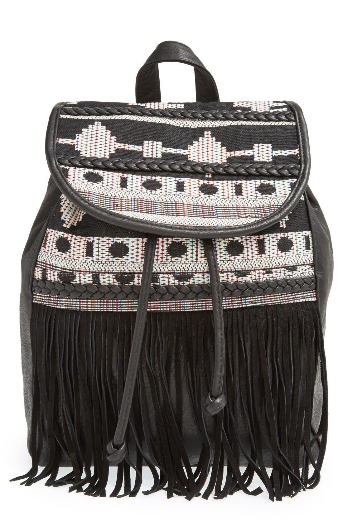 Alternate Image 1 Selected - Dolce Girl Fringe Backpack