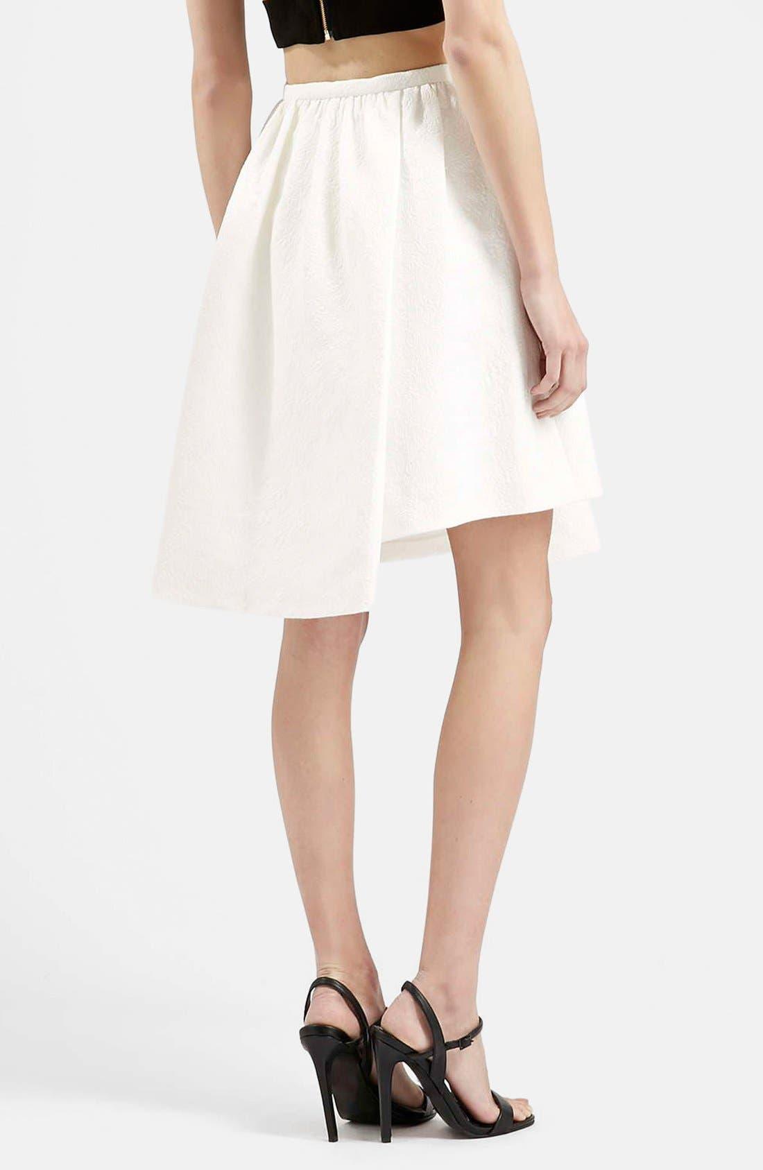 Alternate Image 2  - Topshop Asymmetrical Midi Skirt