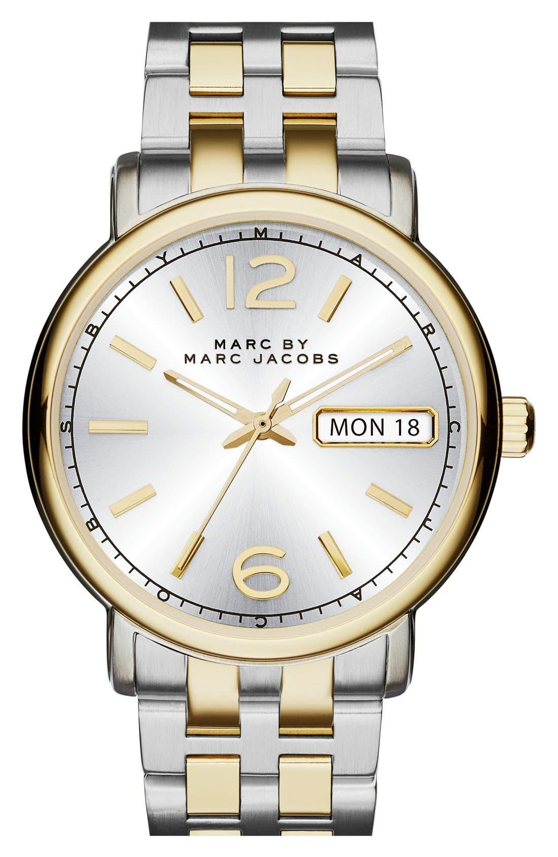 Alternate Image 1 Selected - MARC JACOBS 'Fergus' Bracelet Watch, 38mm