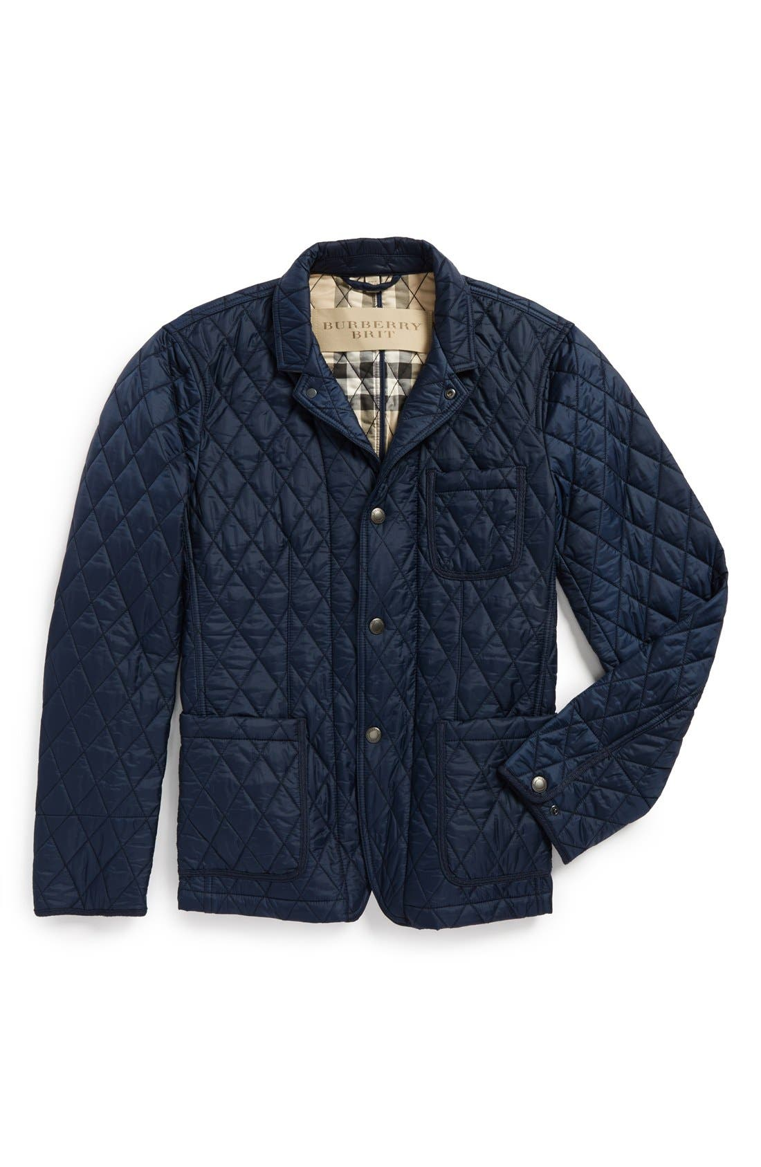 Alternate Image 4  - Burberry Brit 'Howe' Quilted Jacket