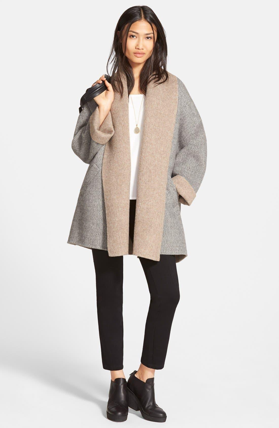 Alternate Image 4  - Eileen Fisher Shawl Collar Alpaca Blend Kimono Coat (Regular & Petite)