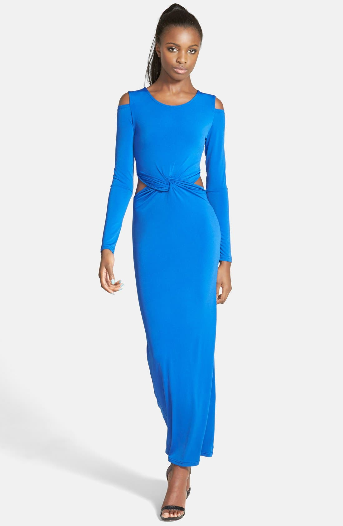 Alternate Image 1 Selected - Glamorous Twist Front Midi Dress