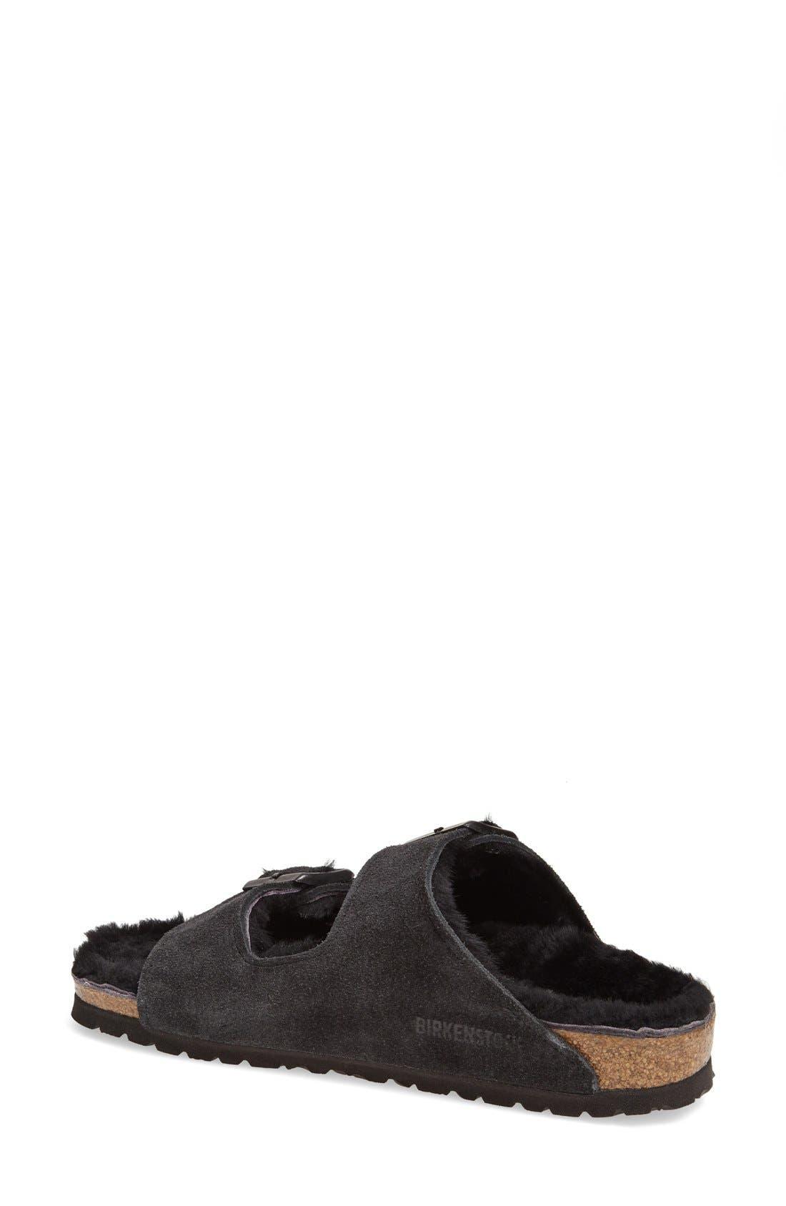 Alternate Image 2  - Birkenstock 'Arizona' Genuine Shearling Lined Sandal (Women)