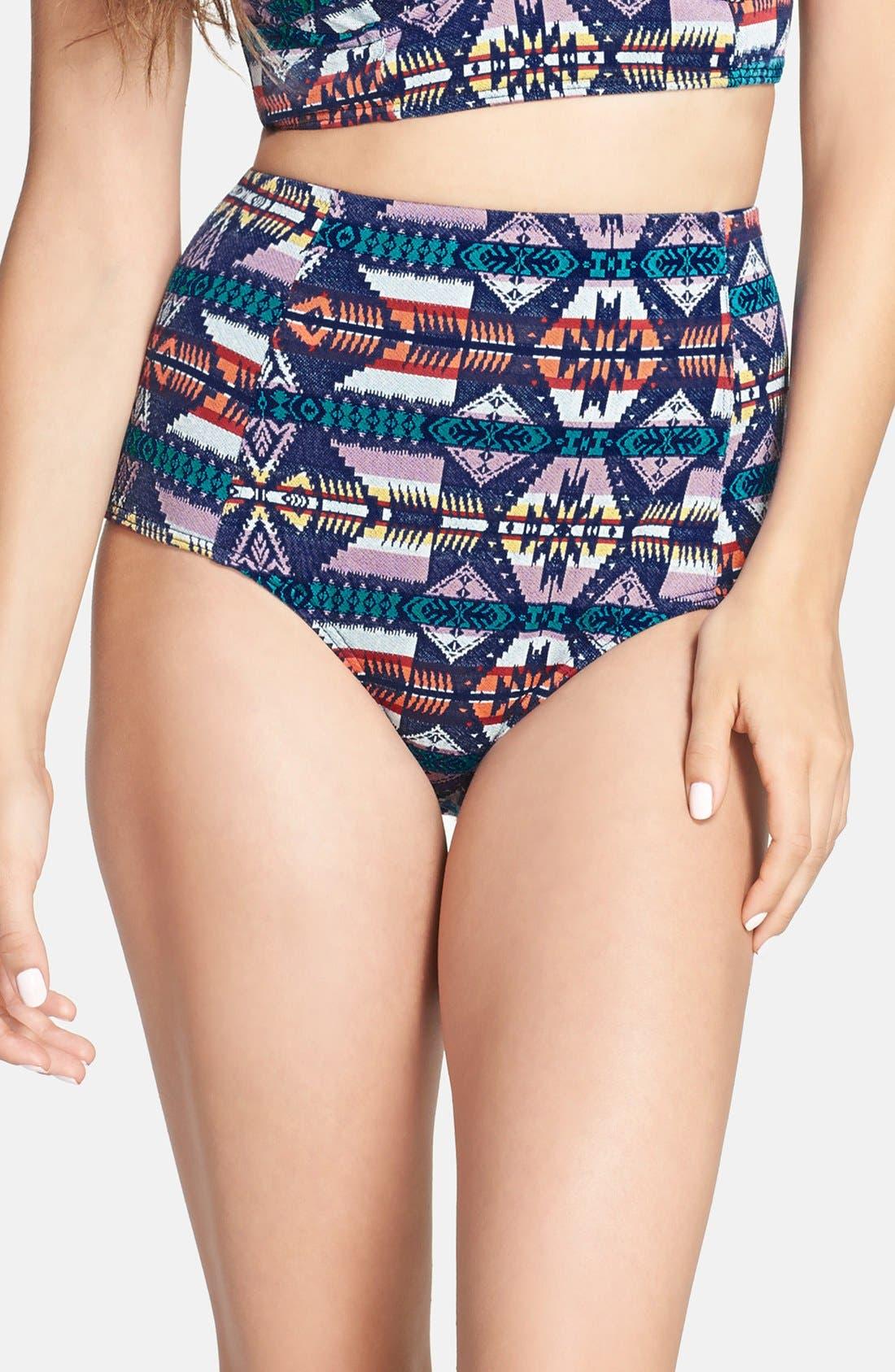 Main Image - Roxy X Pendleton 'Hot Tuesday' High Waist Bikini Bottoms
