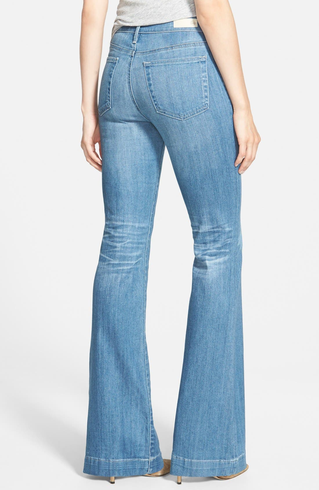 Alternate Image 2  - AG 'Janis' High Rise Flare Jeans (25 Years Classic)