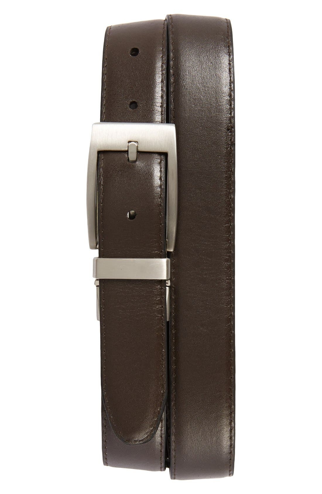 Alternate Image 2  - Nordstrom Men's Shop Reversible Leather Belt
