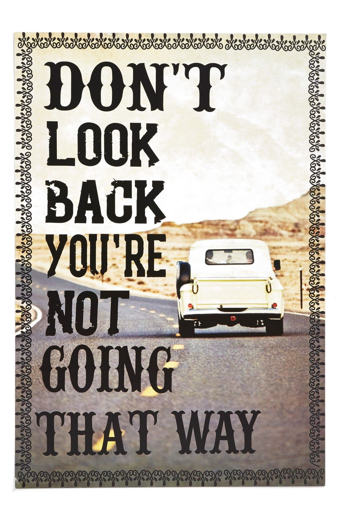 Main Image - Natural Life 'Don't Look Back' Print