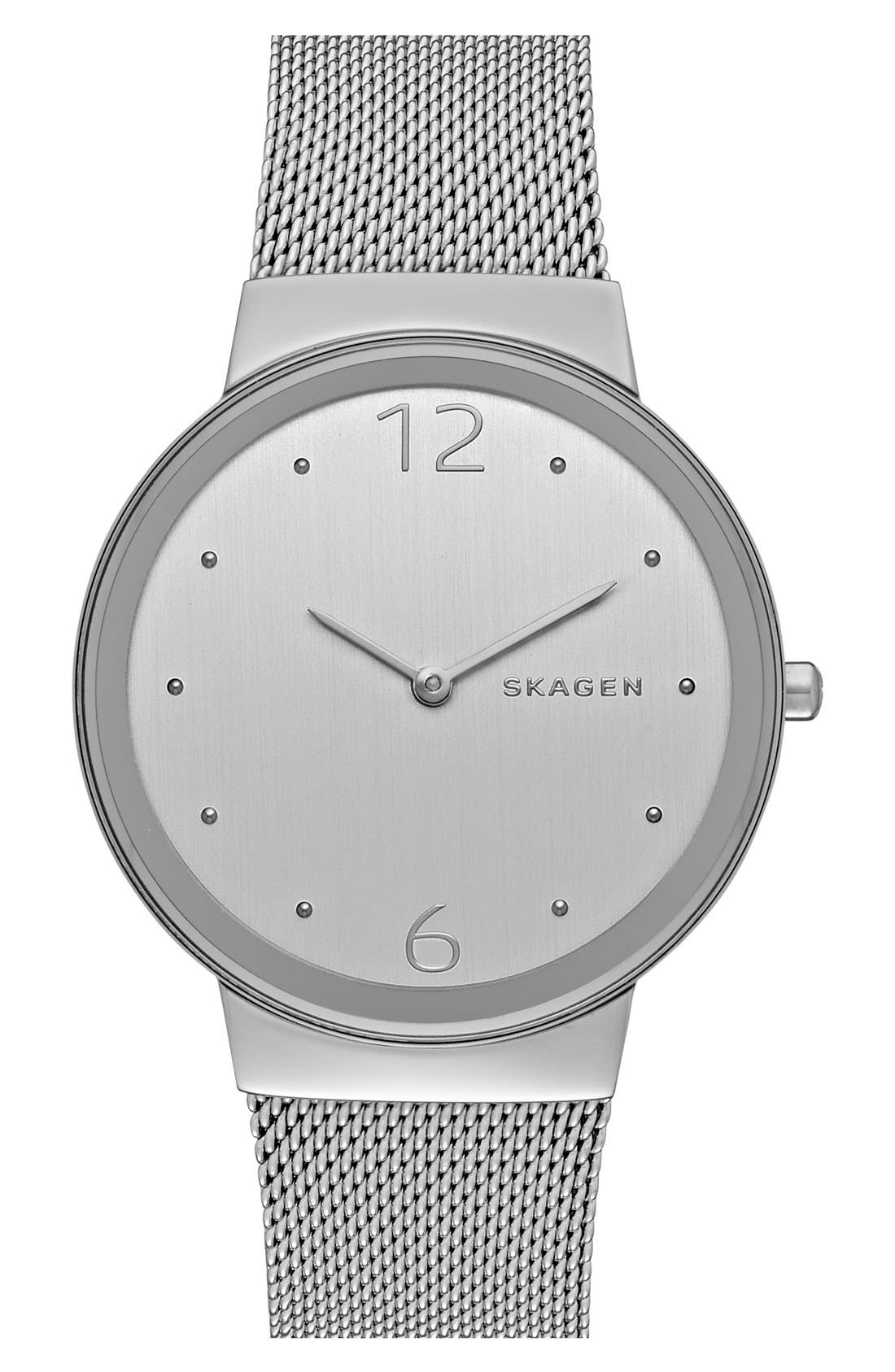 Alternate Image 1 Selected - Skagen 'Freja' Mesh Strap Watch, 34mm