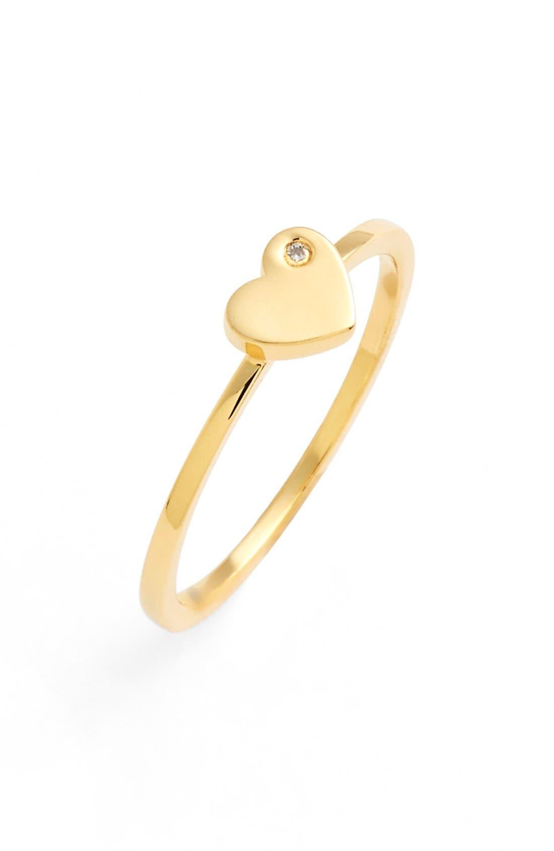 Main Image - Shy by SE Diamond Heart Midi Ring