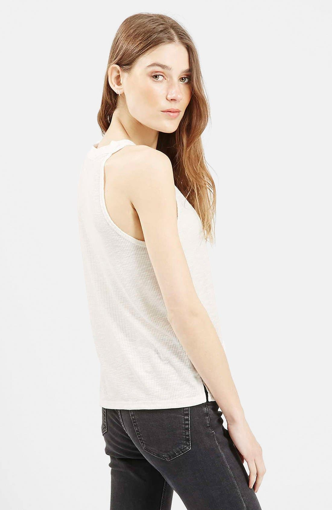 Alternate Image 2  - Topshop '70s High Neck Tank
