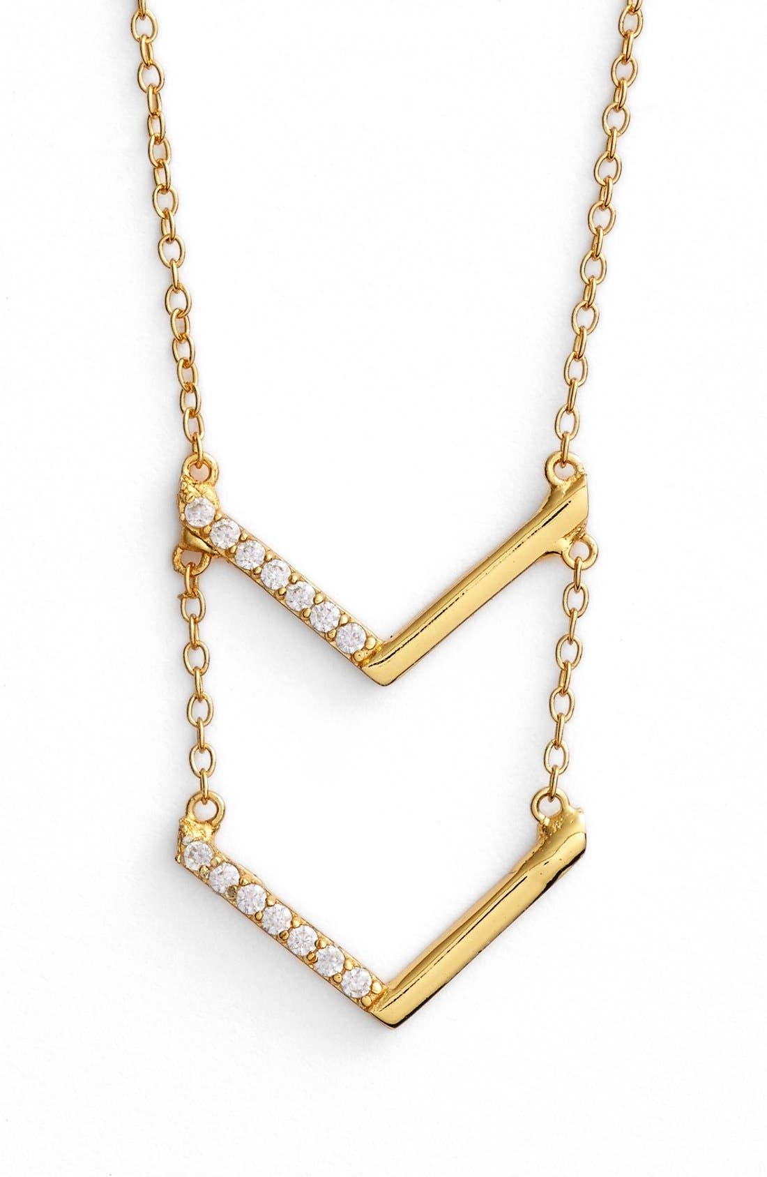 Main Image - Argento Vivo Tiered V-Pendant Necklace