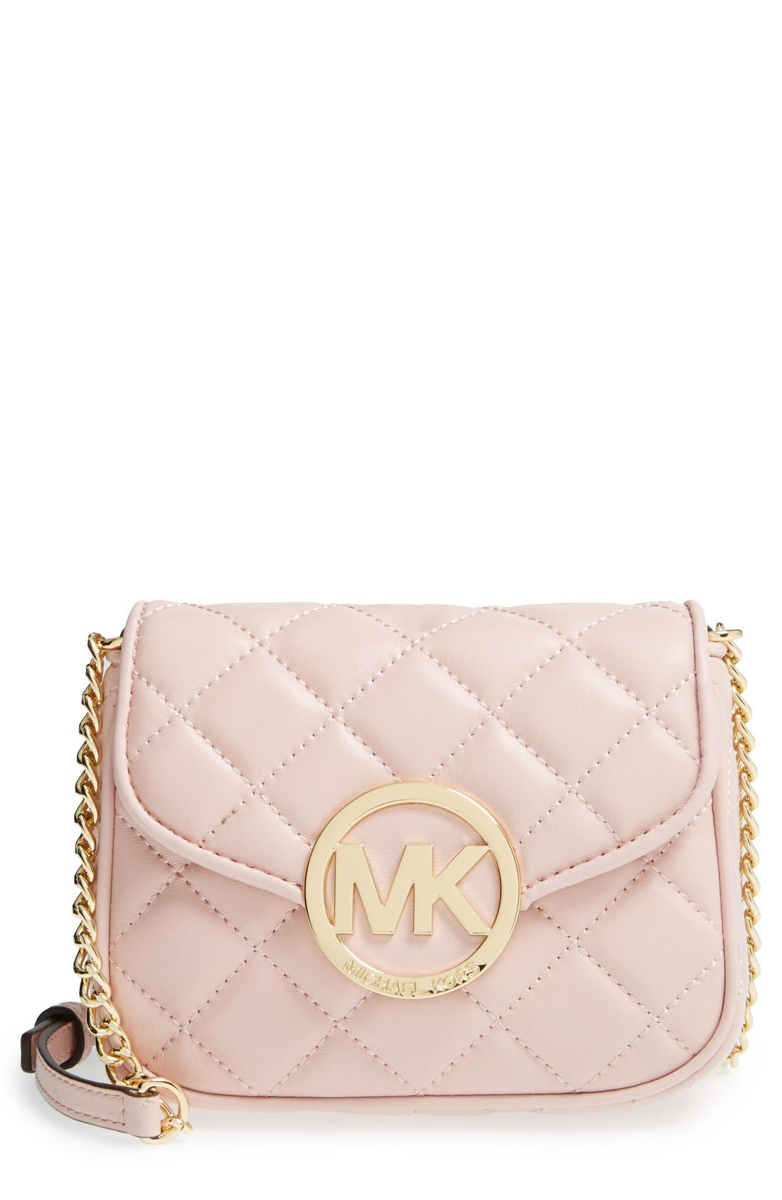 Alternate Image 1 Selected - MICHAEL Michael Kors 'Small Fulton' Quilted Crossbody Bag